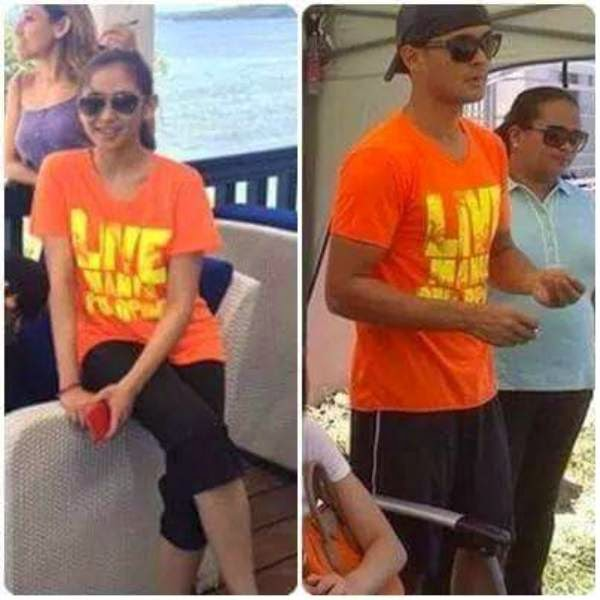 Sarah Geronimo and Matteo Guidicelli orange shirt