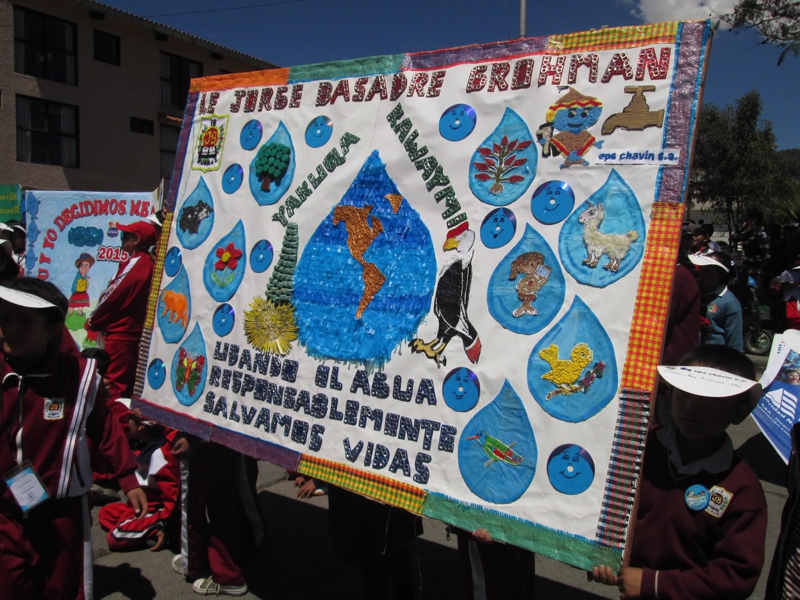 Periodico mural reciclable dia interamericano del agua for Contenido del periodico mural