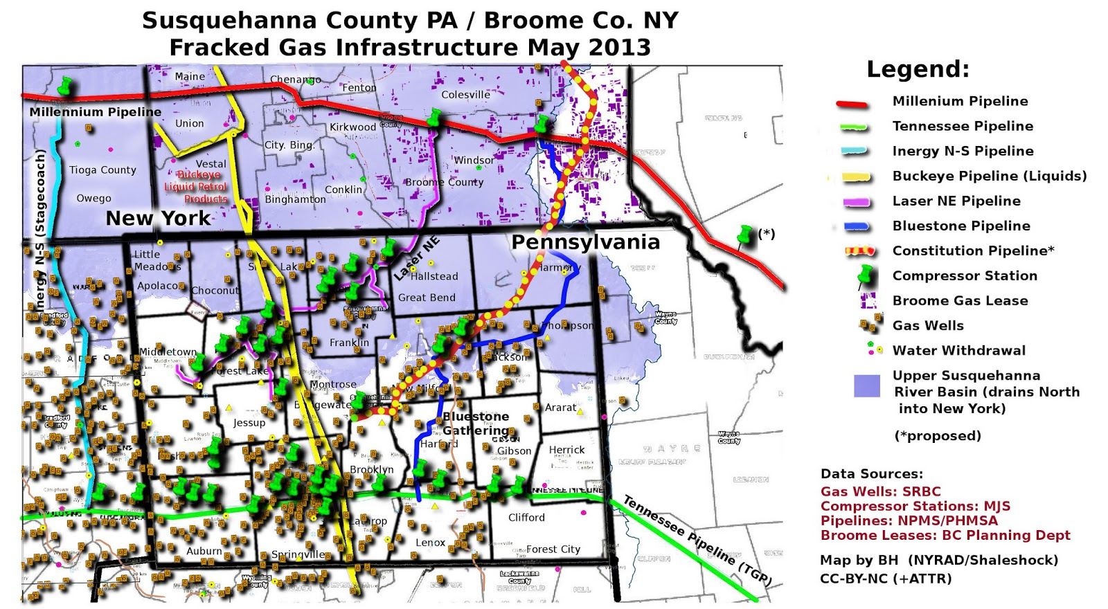 Map Of Natural Gas Pipelines In Pa