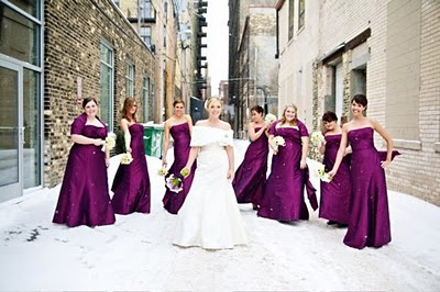 Purple Bridal Party Dress
