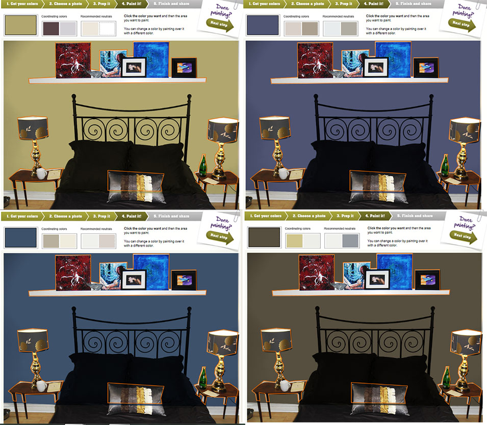 Fresh coat of paint update virtual bedroom makeover for Virtual bedroom makeover