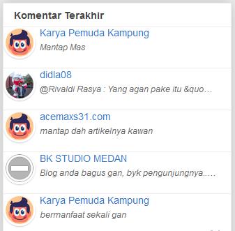 Membuat Widget Recent Comments plus Avatar