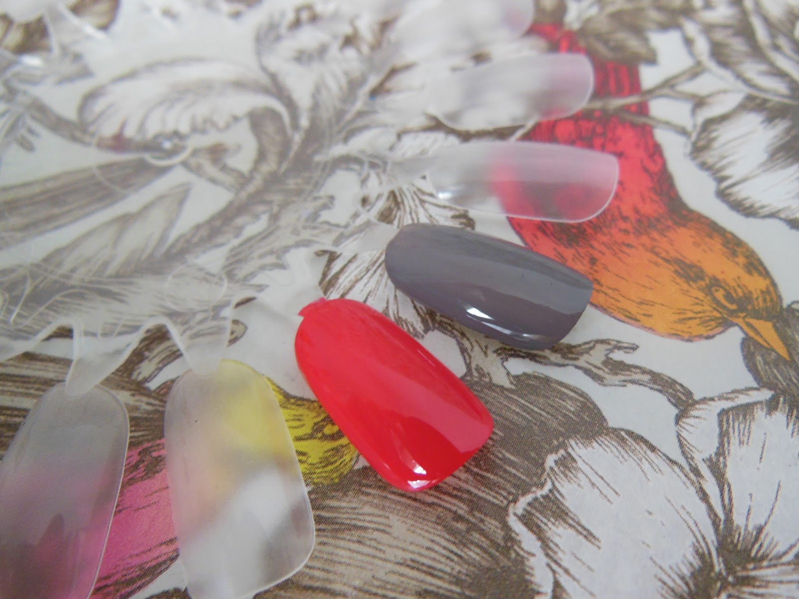 Dr Lewinn's renunail triple strength nail colours pomegranate and graphite swatches