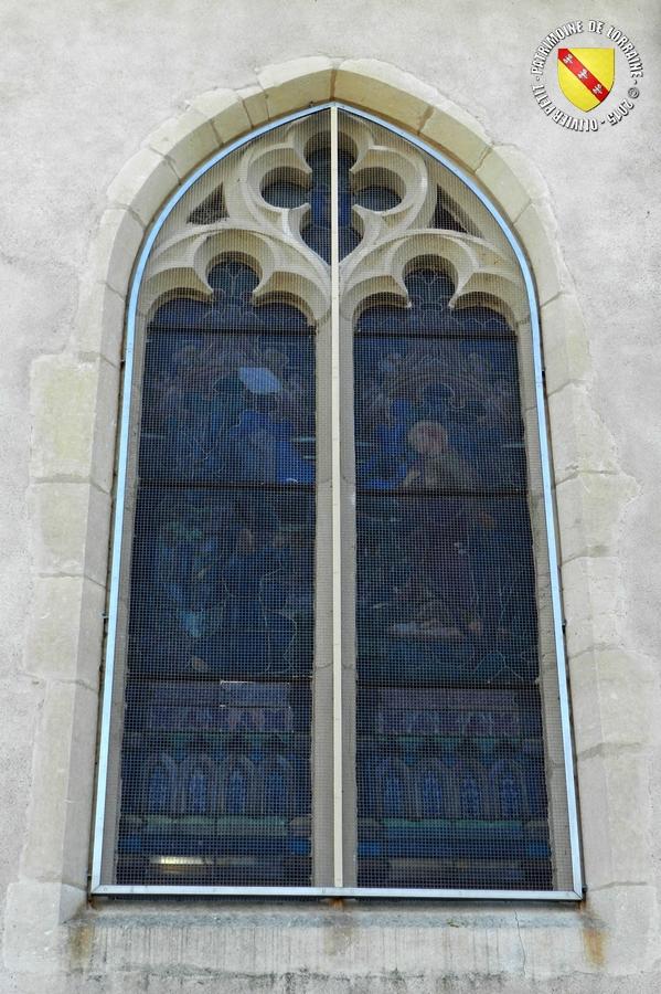 Patrimoine de lorraine francheville 54 eglise saint for Fenetre gothique