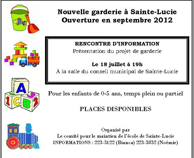 La cdc ici montmagny l 39 islet nouvelle garderie de sainte lucie de beaure - Tous types ou tout type ...