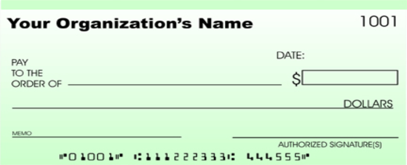 business check template – Blank Cheque Template