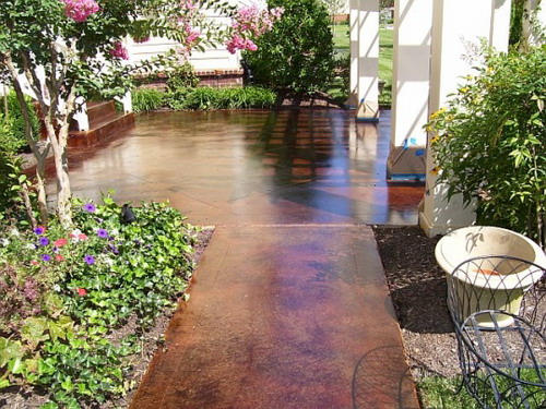 Acid Stained Concrete Patio Ideas