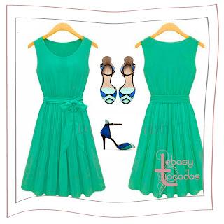 Vestido de Bg.fashion y zapatos de Zara.