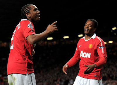 Anderson Patrice Evra Manchester United vs Schalke 04 Champions League