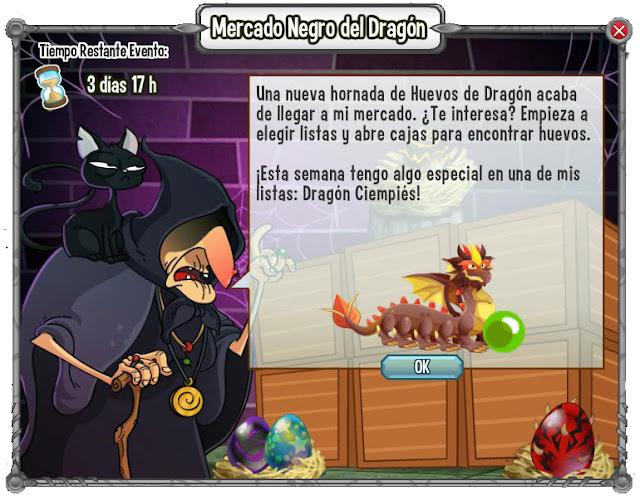 dragon ciempies en el mercado negro del dragon