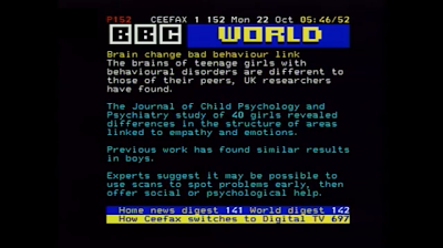 Ceefax 152 Last Pages From Ceefax