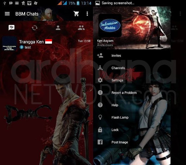 Preview BBM Devil May Cry Mix - BBM Android V2.10.0.35