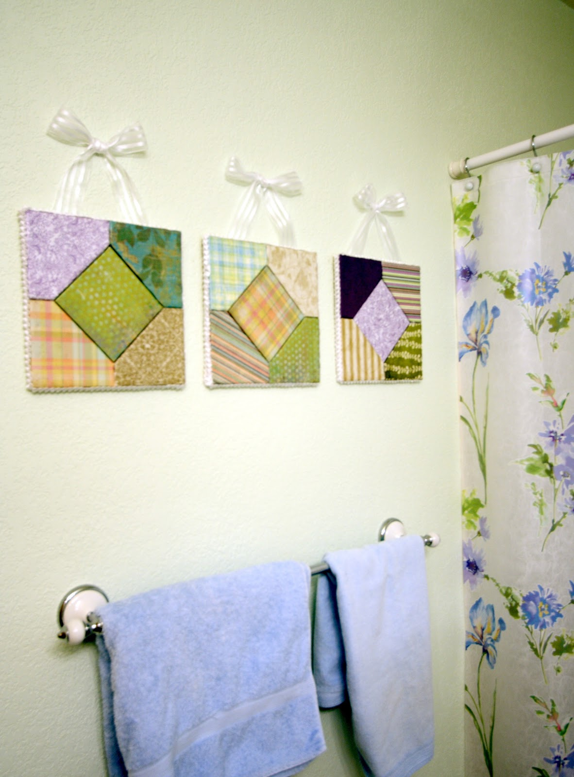 His hers and ours diy decoupage wall hanging for Bathroom pictures to hang on wall