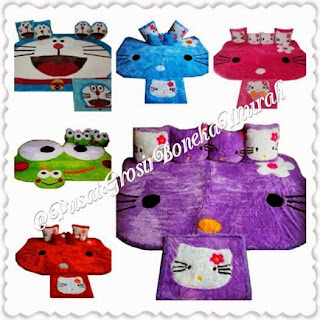 [BOOMING NOW] KARPET SET KEPALA KARAKTER (HK, DE, KEROPI) Model Classic