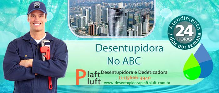 Desentupidora no ABC Paulista SP 24 Horas - Desentupidora Plaft Pluft