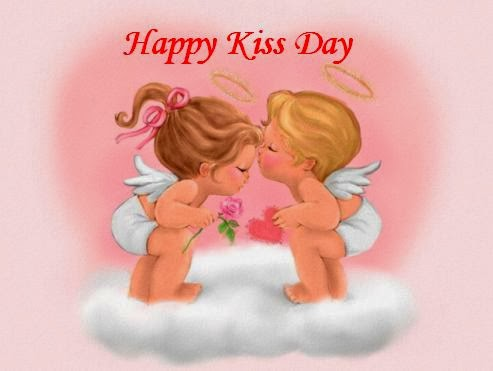 Happy kiss day images 2014 cute kids
