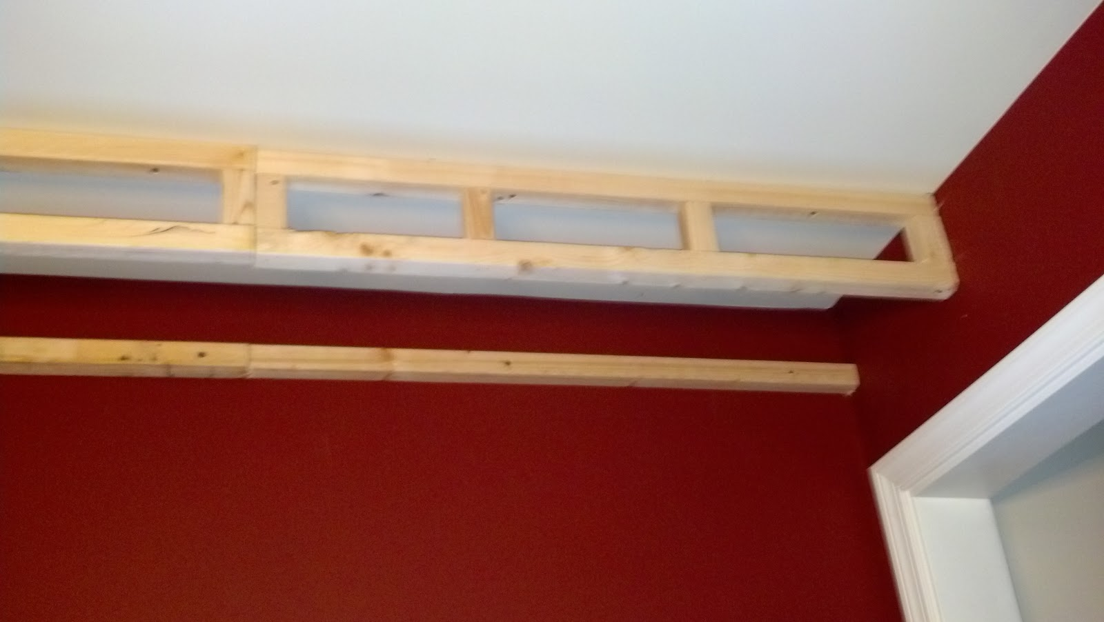 next you will need to build some mini ladder ish structures to hold what will be the wall of your tray make sure you have determined where your ceiling