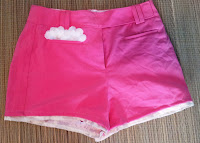 Frilly Pink Polyester Shorts on UpcycleFever