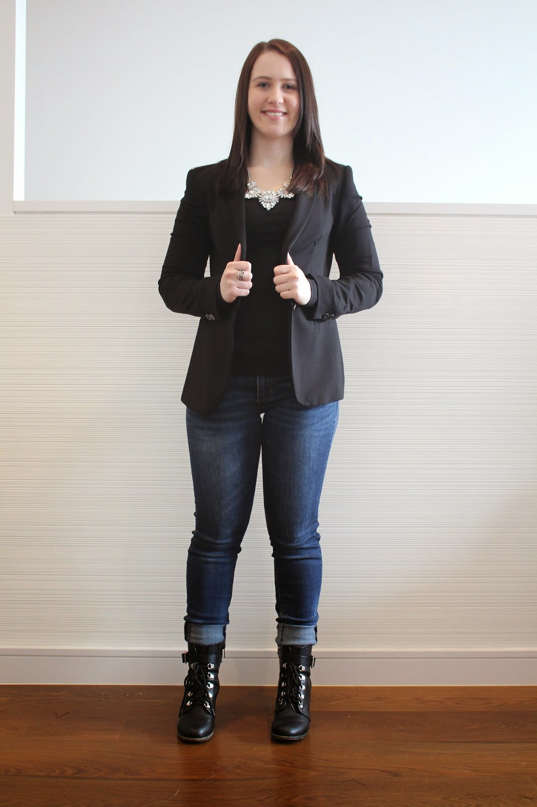 Jeans, black long sleeved top, black zara blazer, novo biker booties, statement necklace, pandora rings, spring outfit, winter outfit, autumn outfit, fall outfit, everyday outfit, uni outfit, college outfit, work outfit,