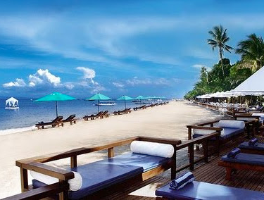 beautifil scenery of sanur beach
