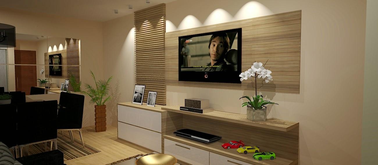 Sala De Tv Planejada ~ Daiane Machado  Designer de Interiores