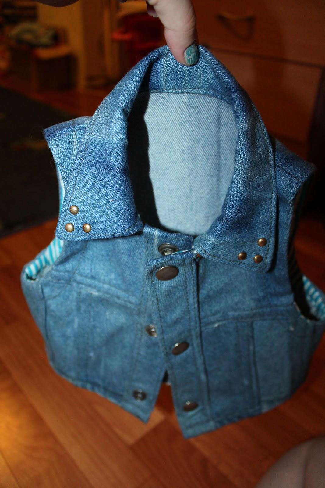Декорирование джинсовой жилетки своими руками