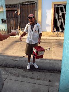 Santiago de Cuba peanut seller