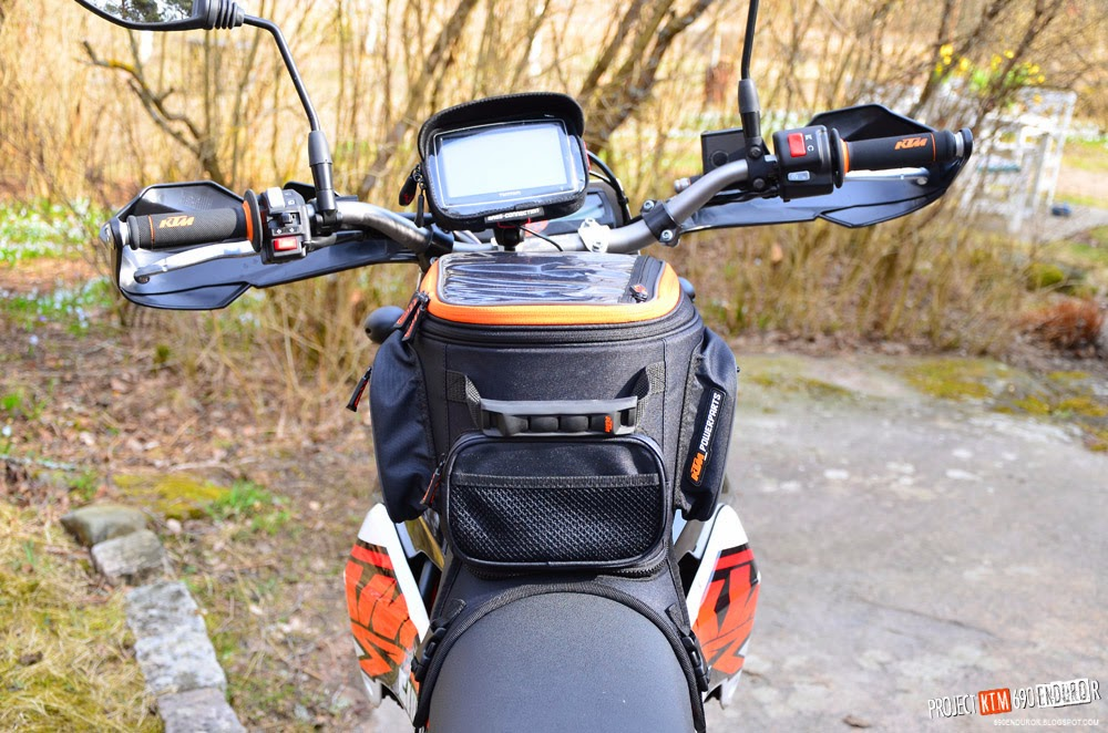 KTM powerparts tank bag on KTM 690 Enduro R