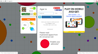 Web Game Online Ringan: AGAR.IO