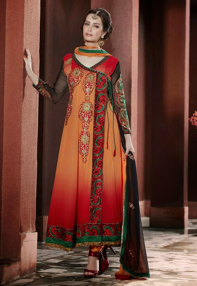 Angrakha Designs Embroidered Suits 2015