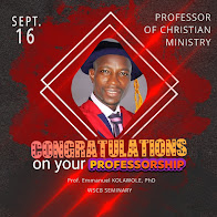 Congratulations! 26 years of CALLING into the MINISTRY for the KINGDOM. - 1993-2019