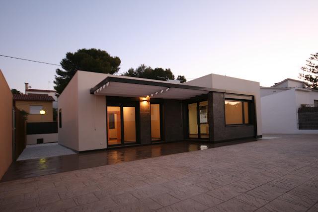 Casas y planos casa mediterr nea 116 m2 for Llave lavamanos sodimac