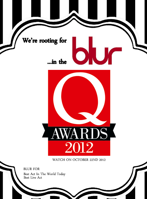 blur q awards, blur q awards 2012, blur best live act, blur poster