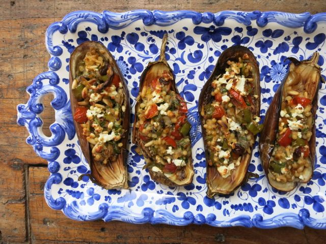 Stuffed Roasted Eggplant www.ElizabethMinchilliInRome.com