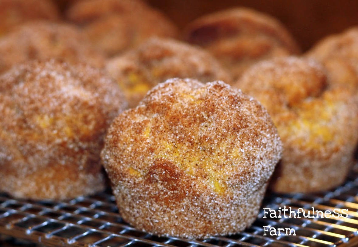 Old-Fashioned Bake Sale ~ Pumpkin Doughnut Muffins ~ Faithfulness Farm