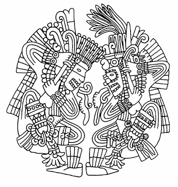 Aztec Coloring Pages Free