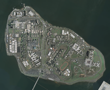 Aerial photograph of Rikers Island