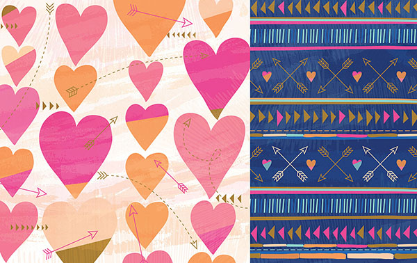 Dari Design Studio Hearts and Arrows Pattern