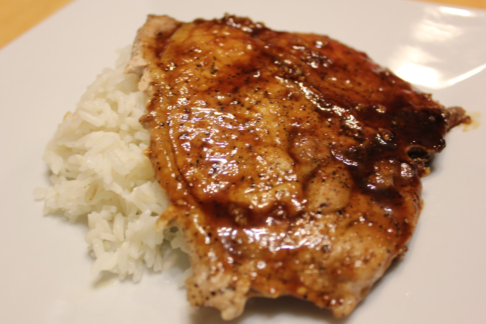 Pork Chops with Hoisin-Molasses Barbecue Sauce