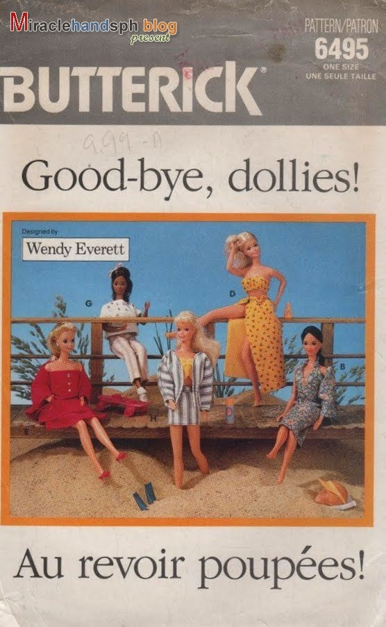 Free craft book download: Butterick 6495 Good-bye, Dollies Barbie ...
