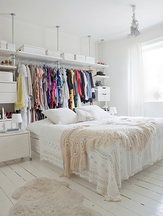 clothes+rack+in+room Smart tricks to maximize your small wardrobe