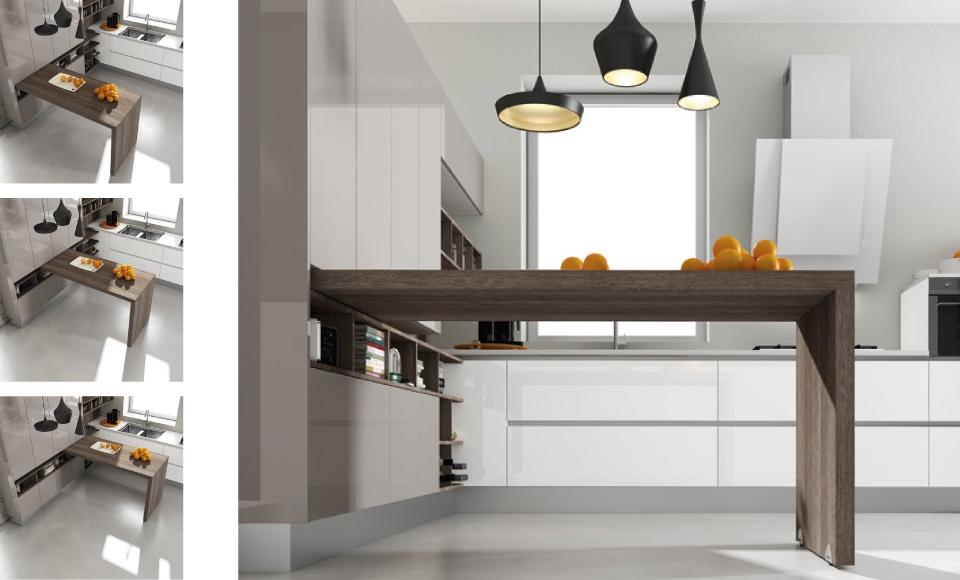 30 ideas de mesas y barras para comer en la cocina cocinas con estilo Barras para cocinas pequenas