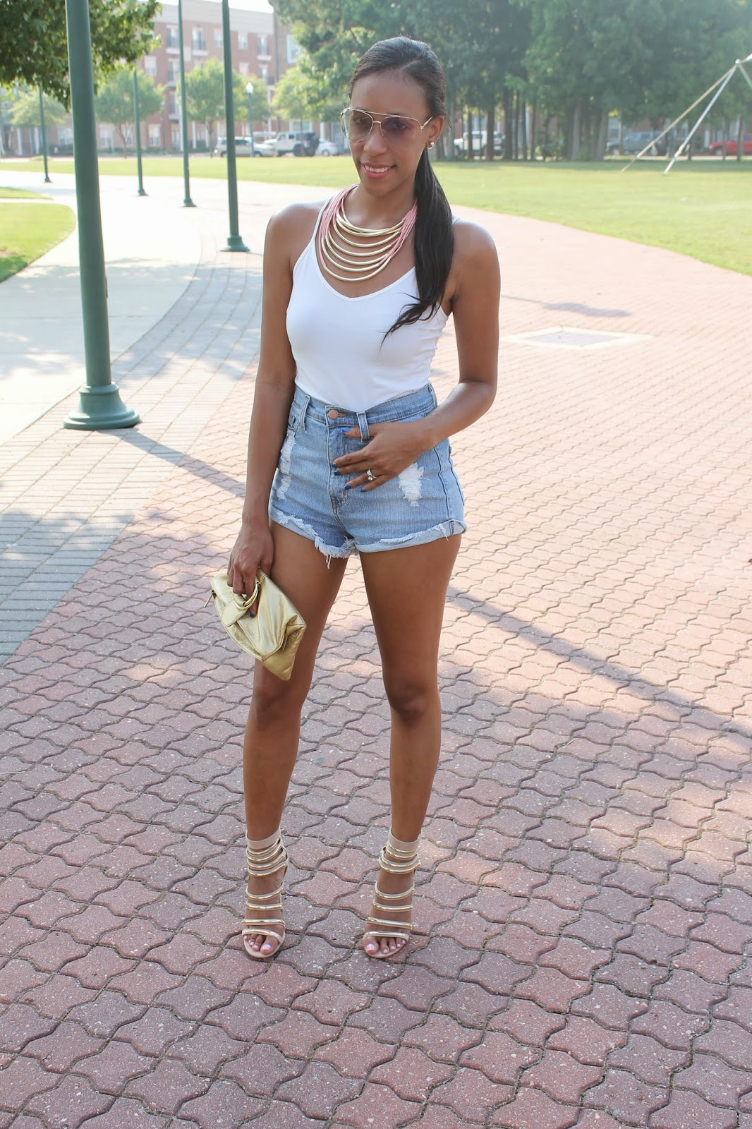 mdollnyc: SHORTS, HEELS & MY FANCY BMW