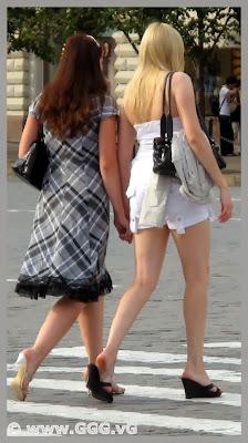 Girl wearing white cotton shorts