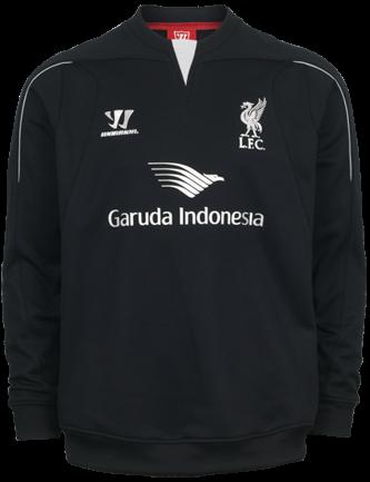 Sweater Untuk Latihan Utama Tim Liverpool Sponsor Garuda Indonesia 2014 - 2015