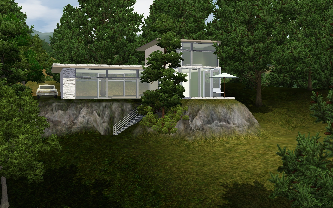 Modern Forest House: FurSims: Modern Forest House