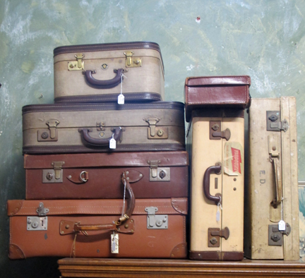 Antique luggage storage