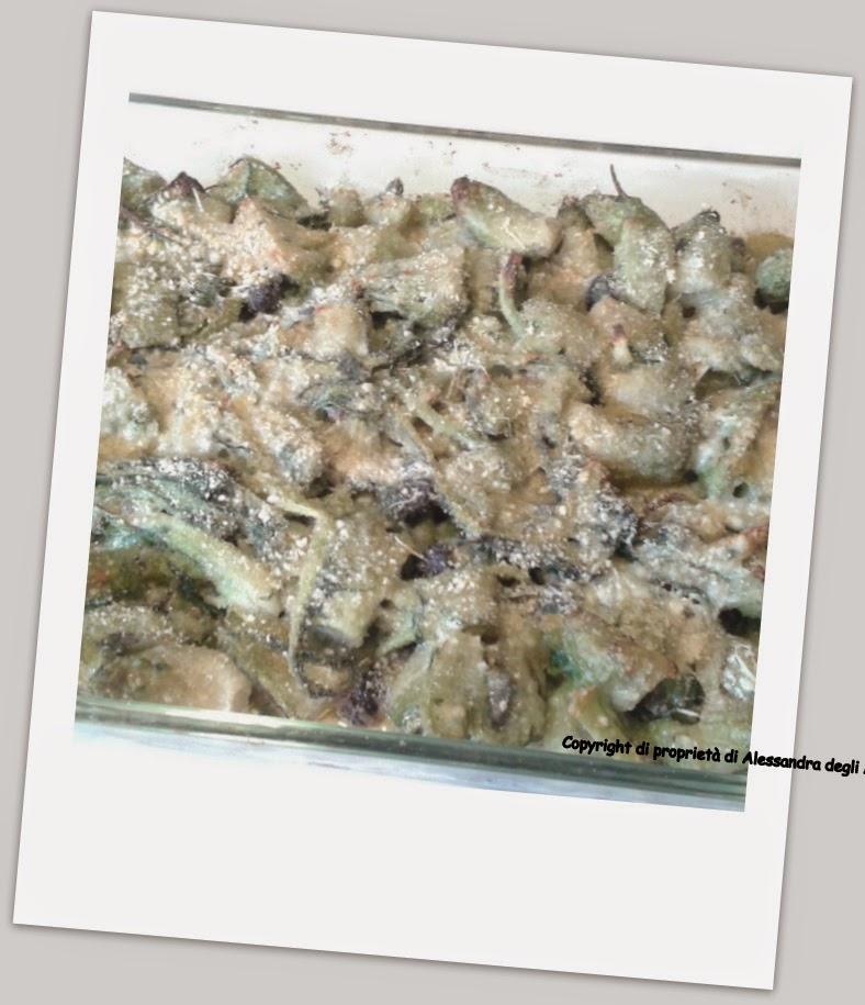 piatto vegetariano di cicorie al forno