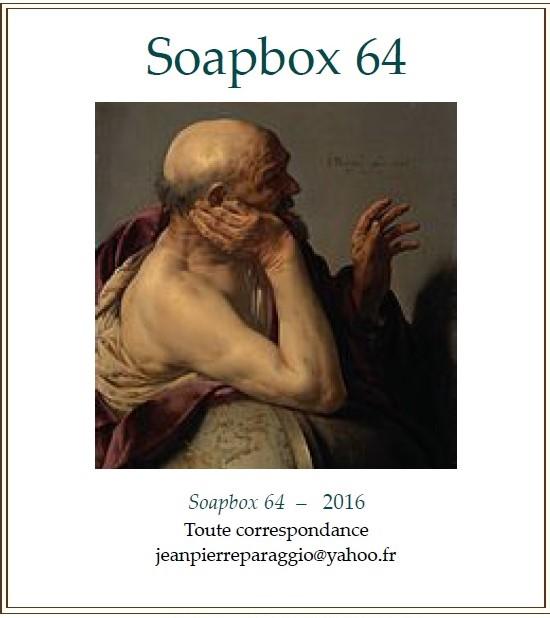 SOAPBOX 64, FEUILLET DE L'UMBO, ART & POÉSIE, OCTOBRE 2016