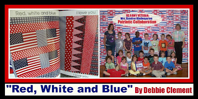 "photo of: ""Red, White and Blue"" Picture book Kindergarten Response"